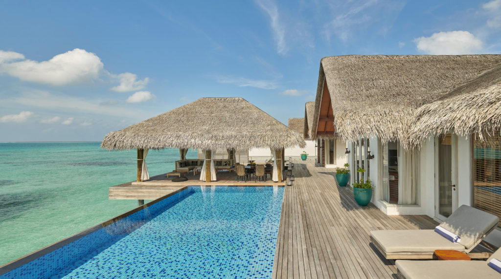 Fairmont Maldives Sirru Fen Fushi Three Bedroom Sunset Water Villa