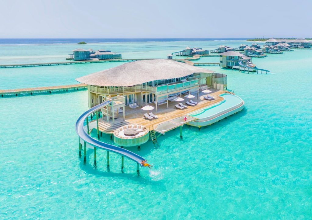 Soneva Jani Four Bedroom Overwater Villa with Waterslide